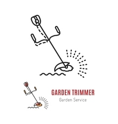 Line trimmer Gardening tools vector image vector image
