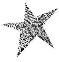 Original Grunge Star vector image