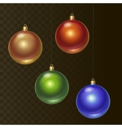 Set of different colored Christmas balls vector image vector image
