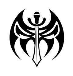 Tribal sword tattoo vector image vector image