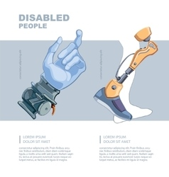 artificial limb vector image vector image