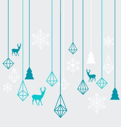 Geometric Christmas ornaments vector image