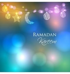 Invitation card for Muslim holy month Ramadan vector image