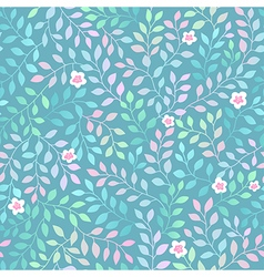 leaves spring flowers vector image vector image