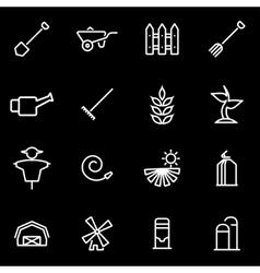 line farming icon set vector image vector image