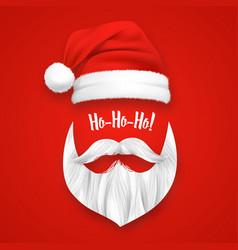 realistic santa claus christmas mask vector image vector image