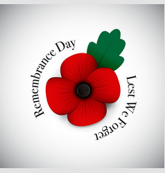 remembrance day vector image vector image