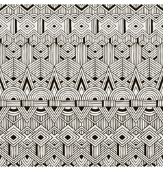 seamless tribal pattern Hand drawn vector image vector image