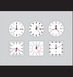 set clock dial timer vector image