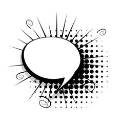Blank template comic speech bubble vector image vector image