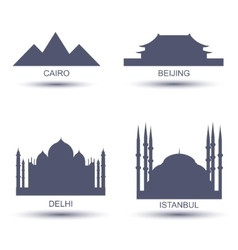 City Icons vector image