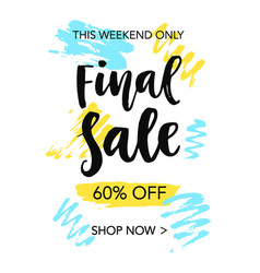 final sale mobile banner template vector image vector image