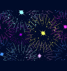 fireworks seamless pattern festive background vector image