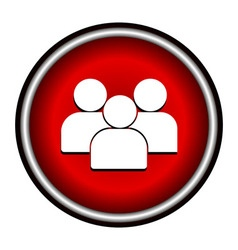 Flat Group of People Icon Symbol Background vector image