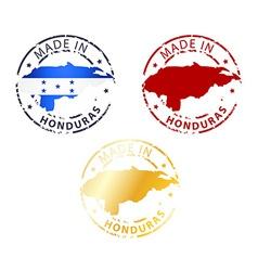 Made in honduras stamp vector