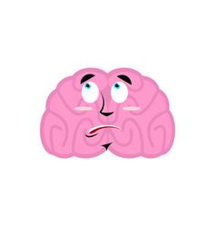 brain surprised emotion human brains emoji vector image