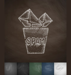 Cart spam icon hand drawn vector