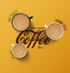 cup of coffee 2 vector image
