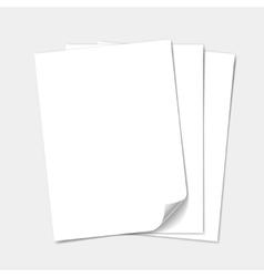 Empty paper sheet set vector image