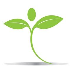 Green plant figure logo vector image vector image