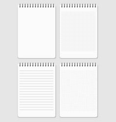 realistic notebooks page collection - lined and vector image vector image