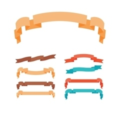 Ribbons in trendy style set vector image vector image