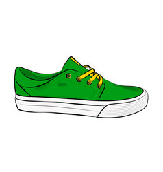 sketch of sport shoes sneakers for summer vector image vector image