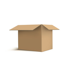 3d realistic cardboard box on white back vector image