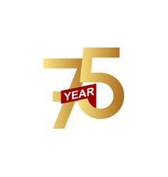 75 years anniversary template design vector