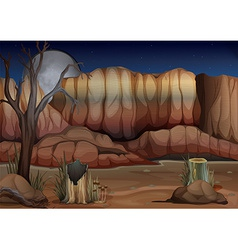 A desert with stumps vector