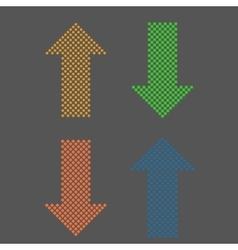 arrows geometric set vector image