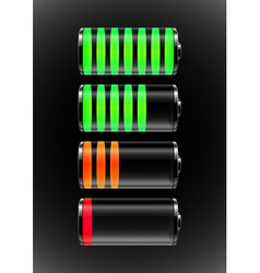 Battery charge status vector