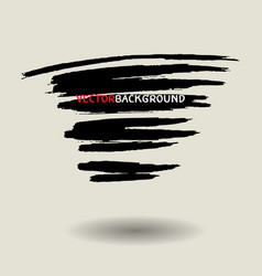 Black brush texture background set vector