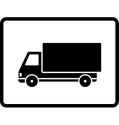 Black delivery truck vector