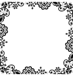Black lace on white background vector