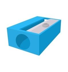 Blue pencil sharpener icon cartoon style vector image
