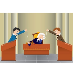 cartoon judicial sitting vector image
