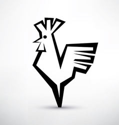 Cock symbol stylized icon vector
