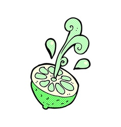 comic cartoon fresh lime vector image