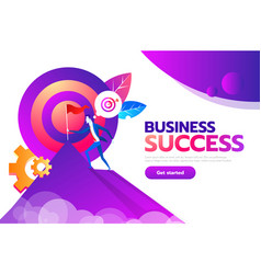 concept of business goal success businessman vector image