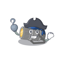 Cool underwater flashlight in one hand pirate vector