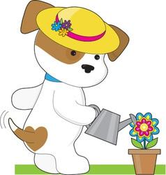 Cute Puppy Plant vector