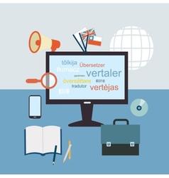 Desktop translator vector