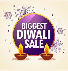 Diwali sale promotional banner with flower vector