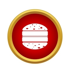 Double hamburger icon in simple style vector image