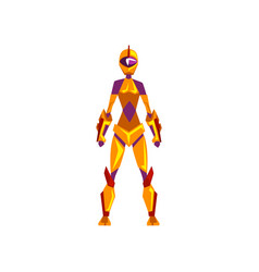 Female robot space suit superhero cyborg costume vector
