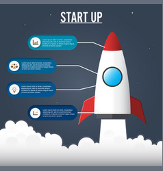 flat concept of business project startup vector image