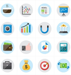 Flat Icons For Business Icons and Finance Icons vector