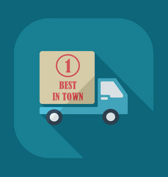 Flat modern design with shadow icons car shipping vector