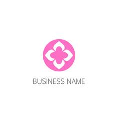 Flower shape decorative petal logo vector